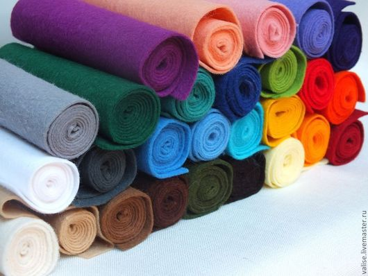 Другие виды рукоделия ручной работы. Ярмарка Мастеров - ручная работа. Купить Фетр в рулонах. Handmade. Бирюзовый, фетр