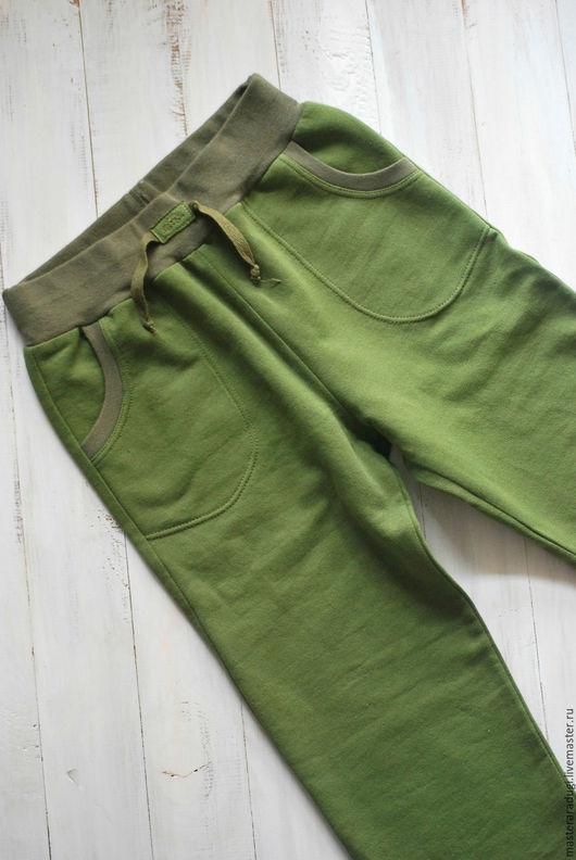 """Одежда для мальчиков, ручной работы. Ярмарка Мастеров - ручная работа. Купить Штаны для мальчика """"Очень классные"""". Handmade. Хаки"""