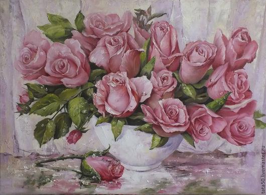 """Картины цветов ручной работы. Ярмарка Мастеров - ручная работа. Купить """" С добрым утром, любимая!"""". Handmade. Розовый"""