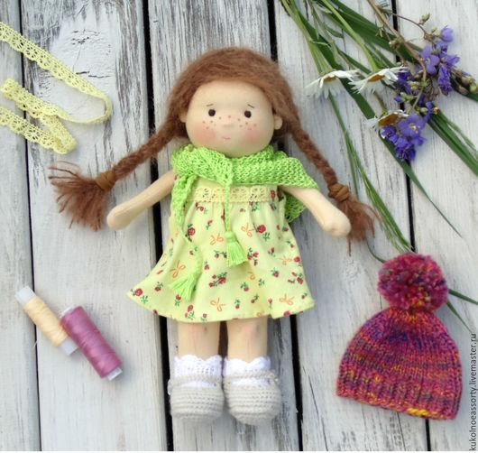 Вальдорфская игрушка ручной работы. Ярмарка Мастеров - ручная работа. Купить Глашенька. Handmade. Бледно-розовый, кукла из ткани