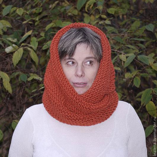 """Шали, палантины ручной работы. Ярмарка Мастеров - ручная работа. Купить Снуд-шарф """" Теплая осень"""" (полушерсть). Handmade."""
