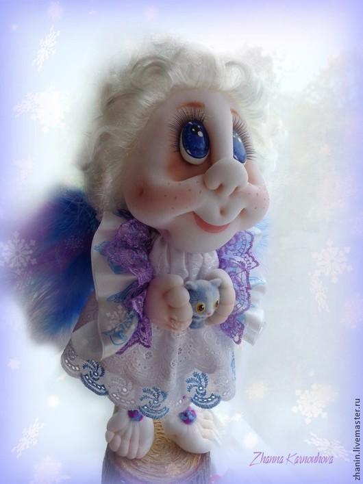 Коллекционные куклы ручной работы. Ярмарка Мастеров - ручная работа. Купить Ангел Серафим, авторская кукла. Handmade. Белый, талисман