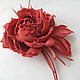 fabric flowers, silk flowers, brooch silk flower, red rose, coral rose, hair clip rose flower, artificial flowers, ornament for women, hair decoration, brooch flower hair clip, rim