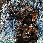 Картины и панно ручной работы. Ярмарка Мастеров - ручная работа Картина маслом Слоник- Ганеша. Handmade.