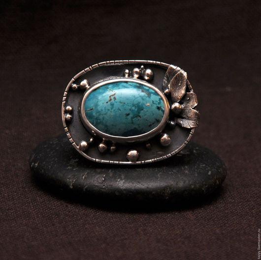 """Кольца ручной работы. Ярмарка Мастеров - ручная работа. Купить Кольцо """"Бирюза"""". Handmade. Бирюзовый, кольцо серебряное"""
