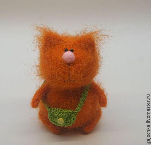 Игрушки животные, ручной работы. Ярмарка Мастеров - ручная работа. Купить Рыжий Кот с сумкой. Handmade. Рыжий, котик