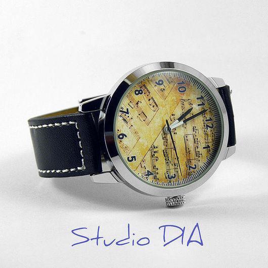 Оригинальные Дизайнерские Часы Старинные Ноты. Студия Дизайнерских Часов и Кулонов DIA.