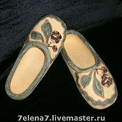 """Обувь ручной работы. Ярмарка Мастеров - ручная работа Тапочки """" Оникс"""". Handmade."""