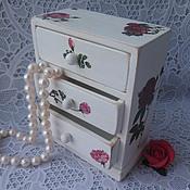 Для дома и интерьера ручной работы. Ярмарка Мастеров - ручная работа Мини - комод  Дикая роза. Handmade.