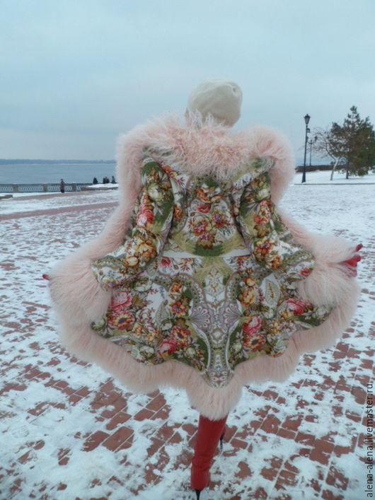 """Верхняя одежда ручной работы. Ярмарка Мастеров - ручная работа. Купить Зимнее пальто """"Ванильное небо"""".. Handmade. Комбинированный"""