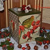 Для дома и интерьера ручной работы. Ярмарка Мастеров - ручная работа Шиповник - короб для хранения. Handmade.