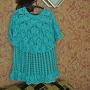Одежда ручной работы. Ярмарка Мастеров - ручная работа вязаная летняя блузка. Handmade.