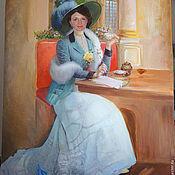 Картины и панно ручной работы. Ярмарка Мастеров - ручная работа Женский портрет в историческом стиле. Handmade.