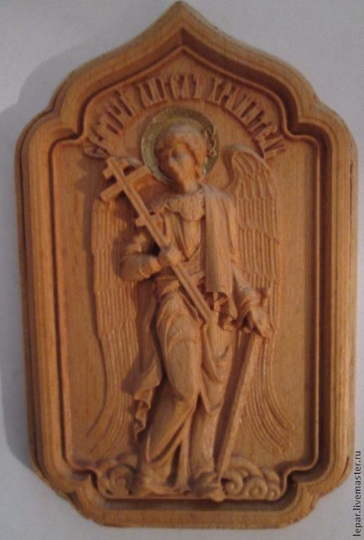 Иконы ручной работы. Ярмарка Мастеров - ручная работа. Купить икона Ангел Хранитель (маленькая). Handmade. Коричневый, икона из дерева