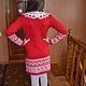 Одежда для девочек, ручной работы. Вязаное платье для девочки с жаккардом. Raisa.Knit. Ярмарка Мастеров. Вязаное платье, платье для вечеринки