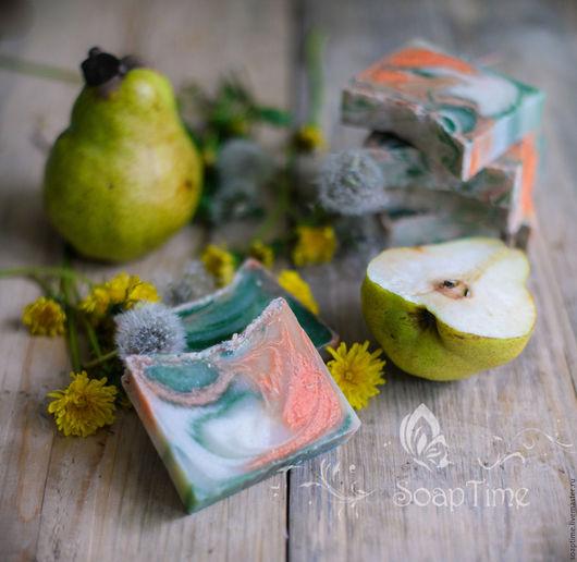 """Мыло ручной работы. Ярмарка Мастеров - ручная работа. Купить """"Одуванчик и груша"""" натуральное мыло с нуля. Handmade. Зеленый, груша"""
