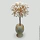 Tree of pearls `Pearl wedding` in a vase of onyx