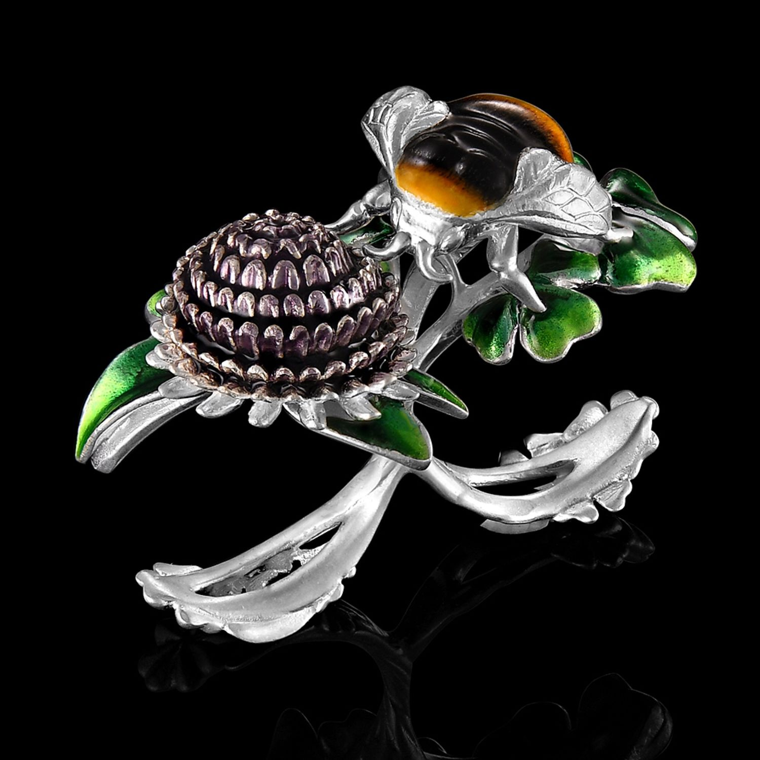 Ring Bumble bee and clover, Rings, Moscow,  Фото №1