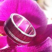 Украшения handmade. Livemaster - original item Lilac wind, silver ring with wood, wooden ring. Handmade.
