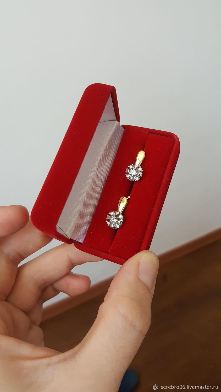 Серьги классические под золото и бриллианты, Серьги классические, Назрань,  Фото №1