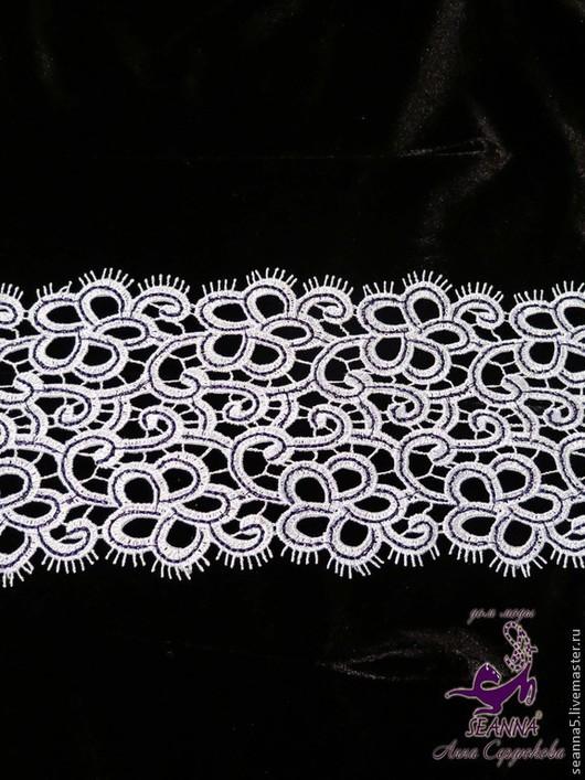"""Шитье ручной работы. Ярмарка Мастеров - ручная работа. Купить Кружево плетеное макраме 11 см """"Черная строчка"""" невероятно красивое!. Handmade."""