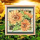 Cross-stitch picture Flowers of the sun, Pictures, Kirov,  Фото №1