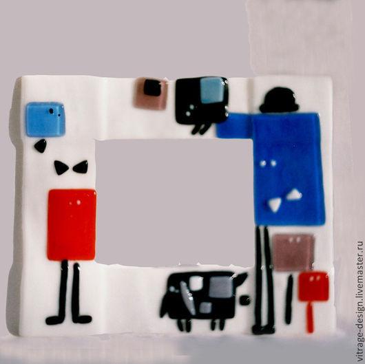 """Фоторамки ручной работы. Ярмарка Мастеров - ручная работа. Купить Рамка для фотографии """"Уличная встреча"""". Handmade. Белый, фоторамка"""