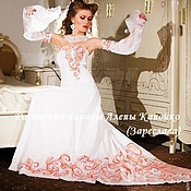 """Свадебный салон ручной работы. Ярмарка Мастеров - ручная работа Свадебное платье """"Жар-птица"""" премиум. Handmade."""