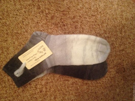 Носки, Чулки ручной работы. Ярмарка Мастеров - ручная работа. Купить носки ручной работы (мохер). Handmade. Мохеровые носки