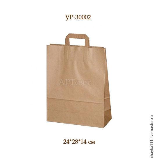 Упаковка ручной работы. Ярмарка Мастеров - ручная работа. Купить Крафт пакет с ручками. Два размера. Упаковка.. Handmade.