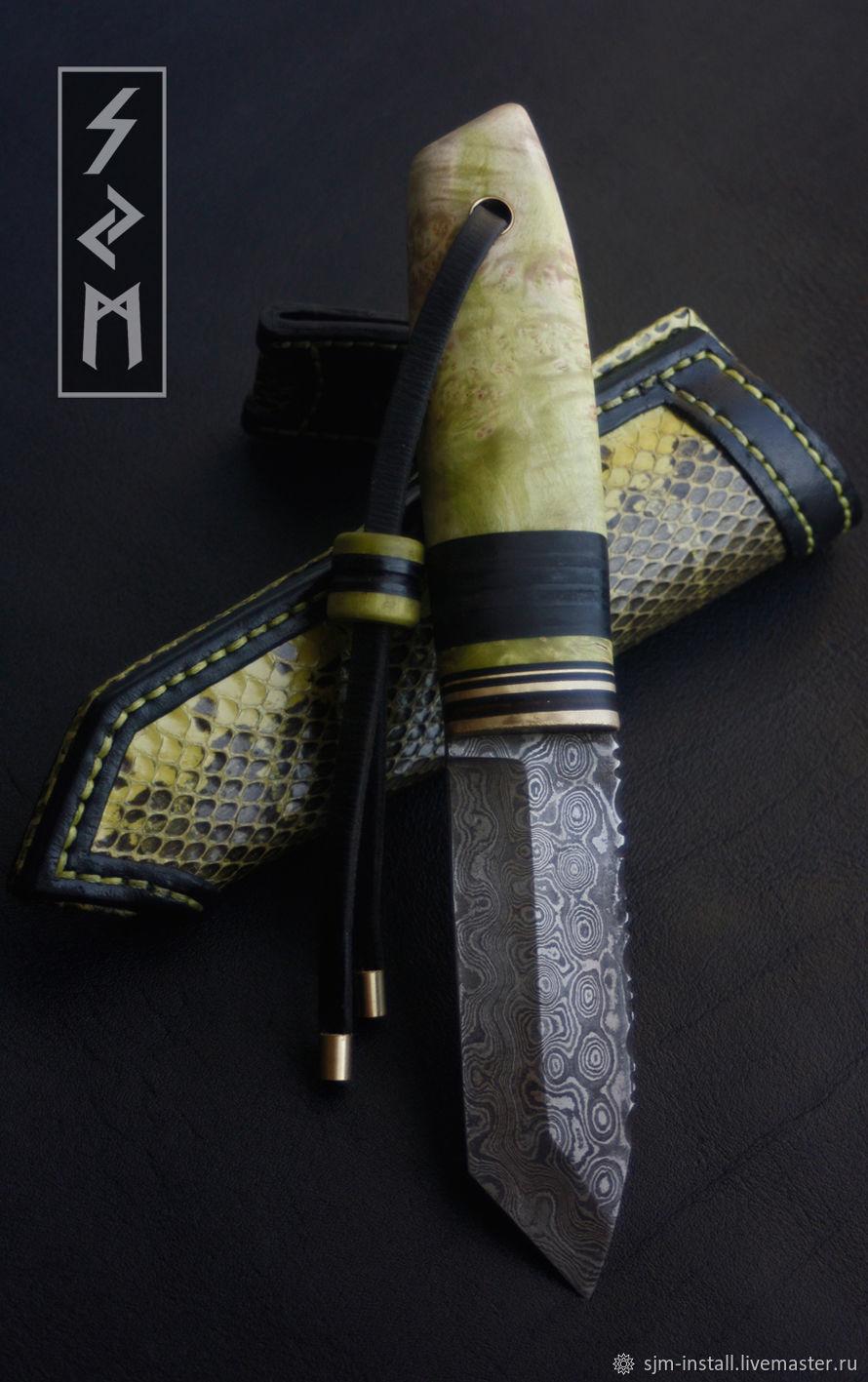 Подарки для мужчин, ручной работы. Ярмарка Мастеров - ручная работа. Купить Авторский нож ручной работы 'Наборный 2'. Handmade.