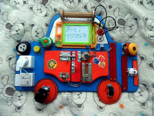 Развивающие игрушки ручной работы. Ярмарка Мастеров - ручная работа. Купить Бизиборд Машинка. Handmade. Тёмно-синий, бизиборд