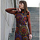 """Платья ручной работы. Ярмарка Мастеров - ручная работа. Купить Вязаное платье """"...........KaleidosСope......."""". Handmade. Платье"""