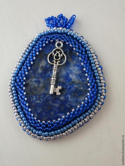 Кулоны, подвески ручной работы. Ярмарка Мастеров - ручная работа. Купить Ключ от Санкт-Петербурга. Handmade. Синий, гавань, лазурит