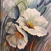 Картины и панно ручной работы. Ярмарка Мастеров - ручная работа Белые цветы. Handmade.