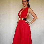 """Одежда ручной работы. Ярмарка Мастеров - ручная работа Красное длинное платье """"Passion"""". Handmade."""