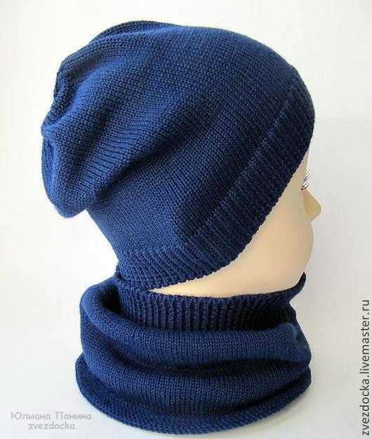 """Шапки и шарфы ручной работы. Ярмарка Мастеров - ручная работа. Купить шапка и шарф-снуд для мальчика """"Sky"""". Handmade."""