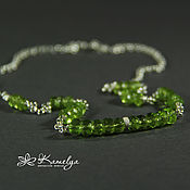 Украшения handmade. Livemaster - original item necklace with chrysolite (peridot)