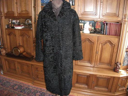 Одежда. Ярмарка Мастеров - ручная работа. Купить Шуба длинная из черной  каракульчи(Забронирована). Handmade. Черный, зимняя одежда, каракульча