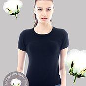 Одежда ручной работы. Ярмарка Мастеров - ручная работа Боди-футболка женское BASIC, чёрная. Handmade.