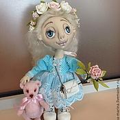 Куклы и игрушки ручной работы. Ярмарка Мастеров - ручная работа А мы с мишкой идем в гости.... Handmade.