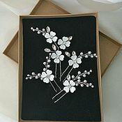 Украшения в прическу ручной работы. Ярмарка Мастеров - ручная работа Шпильки для прически невесты - набор. Handmade.