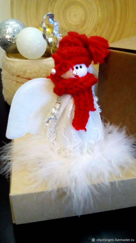 Ангелок, ёлочная игрушка, Народная кукла, Нижний Новгород,  Фото №1