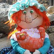 Куклы и игрушки ручной работы. Ярмарка Мастеров - ручная работа Мы так похожи)))или бабуся и кот. Handmade.
