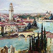 Картины и панно handmade. Livemaster - original item Verona - Italy Landscape painting. Handmade.