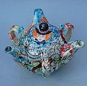 """Посуда handmade. Livemaster - original item """"Безумное чаепитие"""".Чайник заварочный фарфоровый. Handmade."""