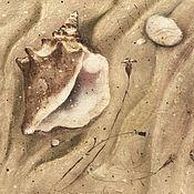 Картины и панно ручной работы. Ярмарка Мастеров - ручная работа Домик у моря.... Handmade.