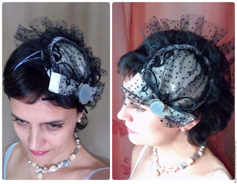 Маленькая шляпка с вуалью мастер класс 199