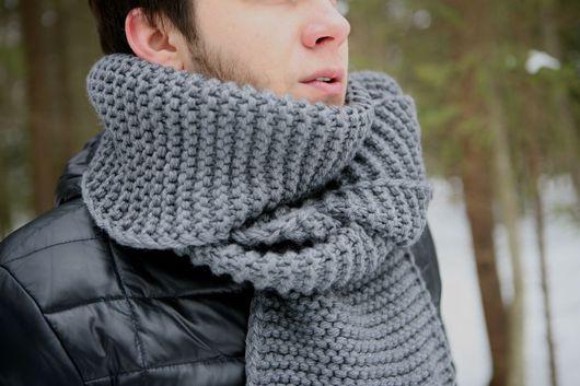Шарфы и шарфики ручной работы. Ярмарка Мастеров - ручная работа. Купить Длинный вязаный теплый  шарф из шерсти мериноса. Handmade.