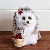 handmade. Livemaster - original item Hedgehog available with a basket. Handmade.